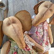 Куклы и игрушки ручной работы. Ярмарка Мастеров - ручная работа интерьерные игрушки слоники-подружки. Handmade.