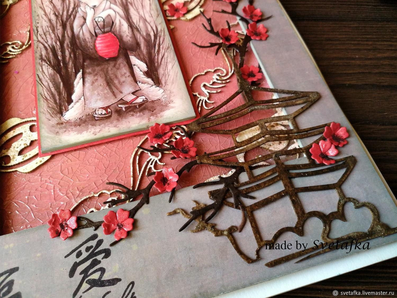 словам как сделать открытку в японском стиле будем рамку