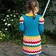 Одежда для девочек, ручной работы. Платье для девочки. Ирина Мажуга (Мультан) (MIRA060609). Интернет-магазин Ярмарка Мастеров. Платье