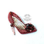 Украшения handmade. Livemaster - original item Brooch-pin: Pink slipper. Handmade.