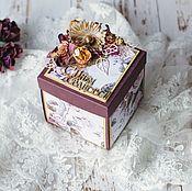 Свадебный салон ручной работы. Ярмарка Мастеров - ручная работа Свадебная открытка Magic box. Handmade.