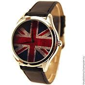 Украшения ручной работы. Ярмарка Мастеров - ручная работа Дизайнерские наручные часы Британский Флаг под старину. Handmade.