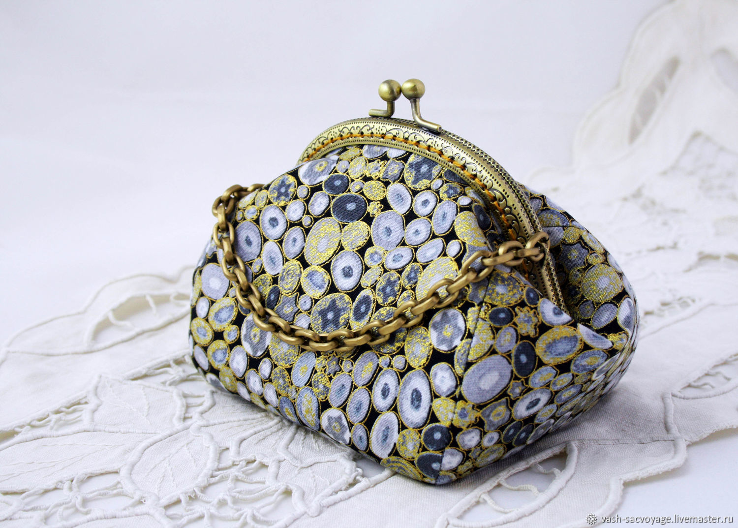 Cosmetic bag with Clasp, Silver Stones, Beauticians, St. Petersburg,  Фото №1