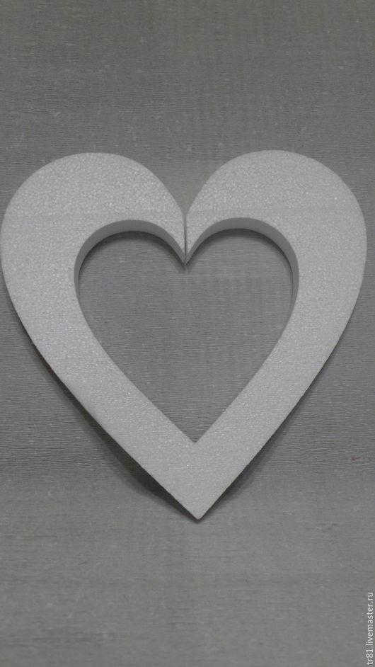 Материалы для флористики ручной работы. Ярмарка Мастеров - ручная работа. Купить Сердце контурное 30 см из пенопласта. Handmade. Белый
