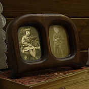 Сувениры и подарки ручной работы. Ярмарка Мастеров - ручная работа Фоторамка деревянная настольная ручной работы Рамка старинный интерьер. Handmade.