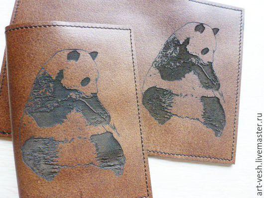 Обложка для паспорта Панда. Обложки для документов.