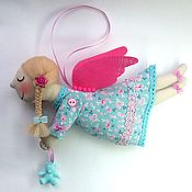 Мягкие игрушки ручной работы. Ярмарка Мастеров - ручная работа Ангел с мишкой. Handmade.