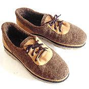 Обувь ручной работы. Ярмарка Мастеров - ручная работа Войлочные мужские туфли, 44.5 размер в наличии.. Handmade.