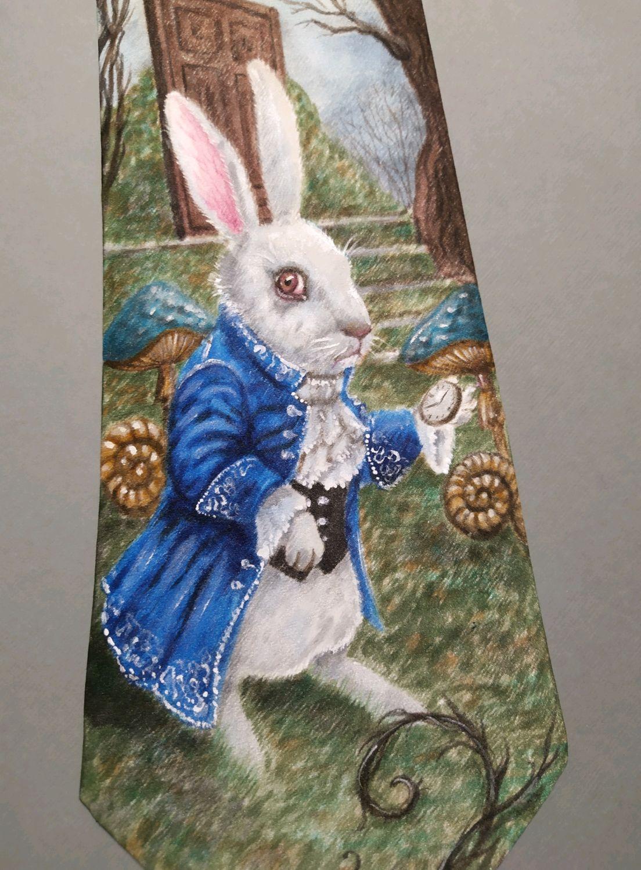 """Галстук """" Белый кролик"""", Галстуки, Челябинск,  Фото №1"""
