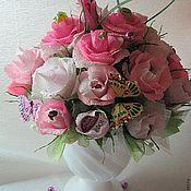 Цветы и флористика ручной работы. Ярмарка Мастеров - ручная работа сладкий букет. Handmade.