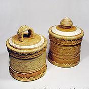 Для дома и интерьера ручной работы. Ярмарка Мастеров - ручная работа Туес / Туесок из бересты (в наличии 2 штуки). Handmade.