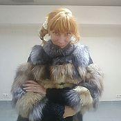Одежда ручной работы. Ярмарка Мастеров - ручная работа Шубка лиса-каракуль с юбкой. Handmade.