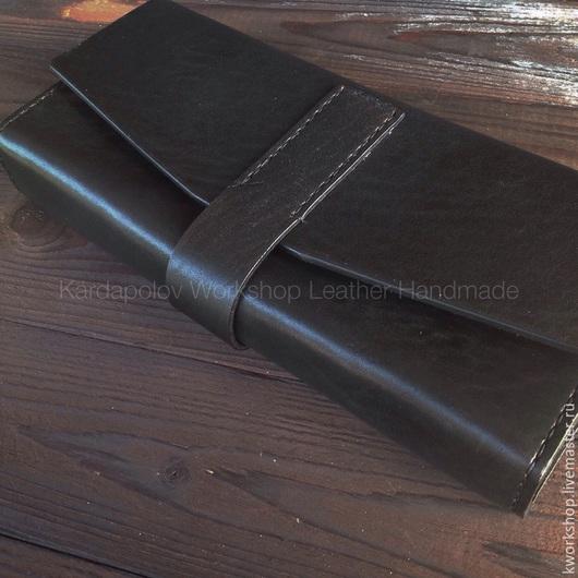 Женские сумки ручной работы. Ярмарка Мастеров - ручная работа. Купить Черный клатч из натуральной кожи. Handmade. Черный