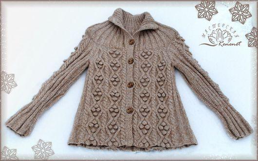 """Кофты и свитера ручной работы. Ярмарка Мастеров - ручная работа. Купить """"Уютная зима"""". Handmade. Зима, вязаная кофта, шерсть"""