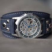 Украшения handmade. Livemaster - original item Aviator blue wrist watch. Handmade.