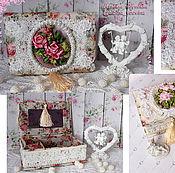 """Для дома и интерьера ручной работы. Ярмарка Мастеров - ручная работа Шкатулки для украшений- """"Нежность роз""""-2. Handmade."""