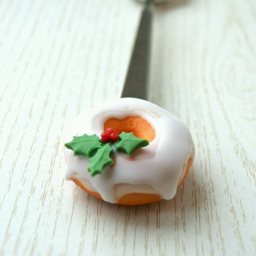 Вкусная ложка с новогодним пончиком, Ложки, Миасс, Фото №1