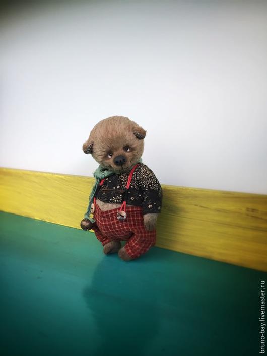 Мишки Тедди ручной работы. Ярмарка Мастеров - ручная работа. Купить ФЕРНАН. Handmade. Серый, теддик, bear, хлопок, опилочки