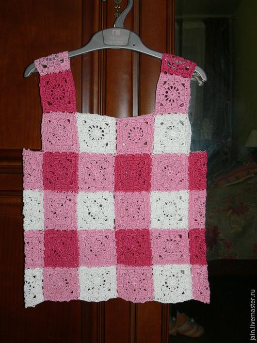 Одежда для девочек, ручной работы. Ярмарка Мастеров - ручная работа. Купить Вязаный детский топ. Handmade. Вязаный топ