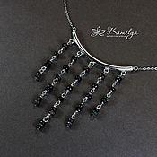 Украшения handmade. Livemaster - original item Silver necklace with a black opal