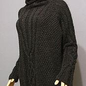"""Одежда ручной работы. Ярмарка Мастеров - ручная работа Платье-свитер """"Perla Nero"""" из итальянской пряжи. Handmade."""