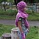 Шапки и шарфы ручной работы. Шапка, варежки , шарф вязаные косами спицами. Ирина Мажуга (Мультан) (MIRA060609). Ярмарка Мастеров.