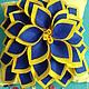 Текстиль, ковры ручной работы. Ярмарка Мастеров - ручная работа. Купить Подушка декоративная. Handmade. Желтый, павлин, листья, фетр