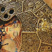 """Для дома и интерьера ручной работы. Ярмарка Мастеров - ручная работа Особенный интерьер. Часы """"Золотой Климт"""" 2. Handmade."""