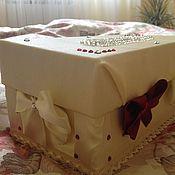 Свадебный салон ручной работы. Ярмарка Мастеров - ручная работа Денежный сундучок). Handmade.