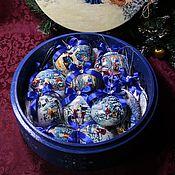 """Подарки к праздникам ручной работы. Ярмарка Мастеров - ручная работа Новогодний набор елочных игрушек """"Семейное Рождество"""". Handmade."""