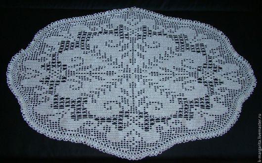 Текстиль, ковры ручной работы. Ярмарка Мастеров - ручная работа. Купить Салфетка. Handmade. Белый, украшение для интерьера, связано с любовью