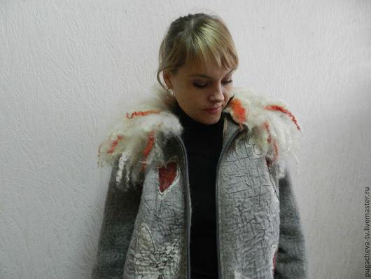 """Пиджаки, жакеты ручной работы. Ярмарка Мастеров - ручная работа. Купить Валяная куртка Эльф"""". Handmade. Серый, шерсть  блюфейс"""
