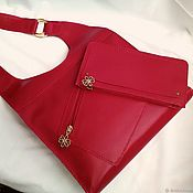 handmade. Livemaster - original item JESSICA RED. Leather handbag purse.Hand stitch. Handmade.