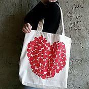 """Сумка-шоппер ручной работы. Ярмарка Мастеров - ручная работа Большая сумка-шоппер """"Это любовь!"""". Handmade."""