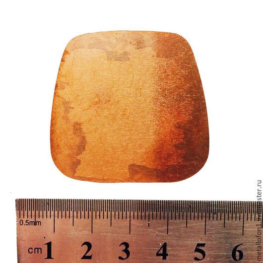 Для украшений ручной работы. Ярмарка Мастеров - ручная работа. Купить Медная форма. Форма 4.. Handmade. Оранжевый, медь