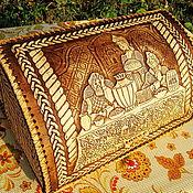 """Для дома и интерьера ручной работы. Ярмарка Мастеров - ручная работа Хлебница из бересты """"Хлеб-соль"""". Handmade."""