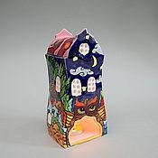"""Для дома и интерьера ручной работы. Ярмарка Мастеров - ручная работа """"Таинственный лес"""". Керамический подсвечник. Handmade."""