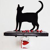 """Для дома и интерьера ручной работы. Ярмарка Мастеров - ручная работа Полка """"Chat noire"""". Handmade."""