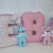 Для дома и интерьера ручной работы. Ярмарка Мастеров - ручная работа Буквы-подушки для девочки. Handmade.