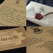 Сувениры и подарки ручной работы. Ярмарка Мастеров - ручная работа Письмо из Хогвартса. Handmade.