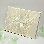 Свадебный салон ручной работы. Ярмарка Мастеров - ручная работа Книга пожеланий Lace Ivory Leaf. Handmade.