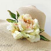 handmade. Livemaster - original item Rose silk brooch