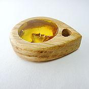 Украшения handmade. Livemaster - original item Pendant wood amber K-465. Handmade.