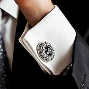 Украшения handmade. Livemaster - original item Cuff Links Osman. Black diamond. Men`s cufflinks.. Handmade.