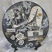 """Для дома и интерьера ручной работы. Ярмарка Мастеров - ручная работа Часы """"Парижанка"""". Handmade."""