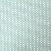 Материалы для творчества ручной работы. Ярмарка Мастеров - ручная работа Ткань Хлопок Звездочки Мелкие Мятные Европа. Handmade.
