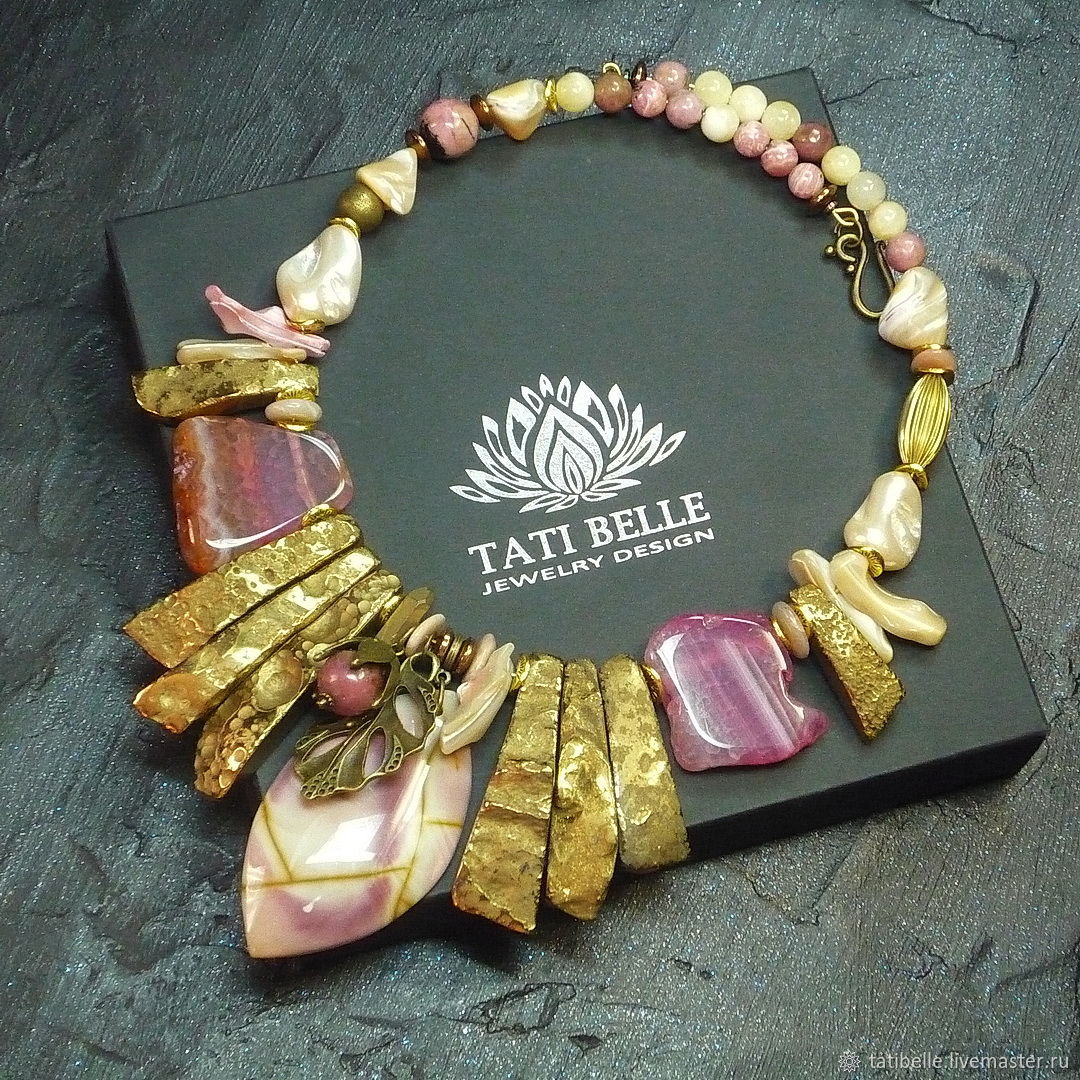 Necklace made of natural stones 'Royal Dessert', Necklace, Moscow,  Фото №1
