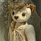 """Мишки Тедди ручной работы. Кошка """"Изабелла"""" коллекция Hugglets. Маша Андреева (mamsik). Ярмарка Мастеров. Ооак, кринолин"""