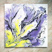 Картины ручной работы. Ярмарка Мастеров - ручная работа Картина в технике жидкий акрил Ирис. Handmade.