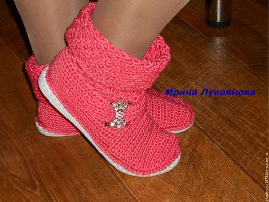 """Обувь ручной работы. Ярмарка Мастеров - ручная работа. Купить Сапожки """"Розовая мечта"""". Handmade. Коралловый, сапожки ручной работы"""